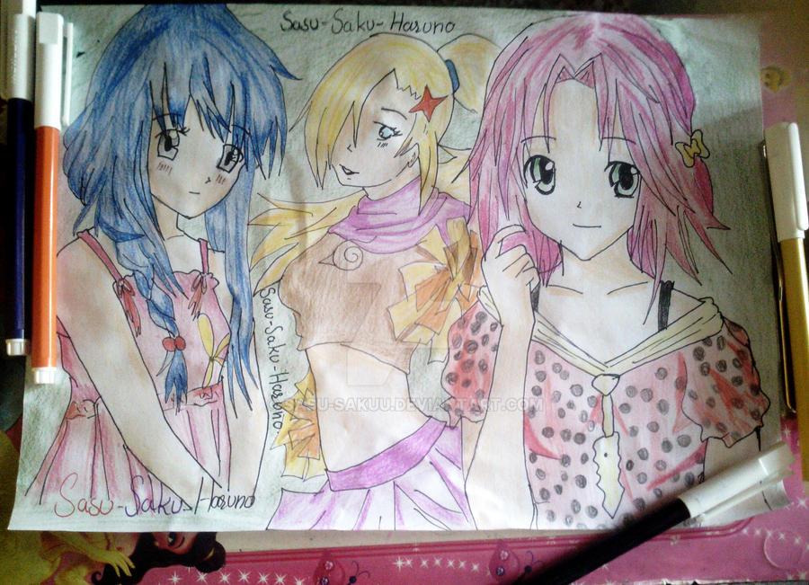 Three Best Friends Naruto Girls By Sasu Sakuu On Deviantart