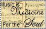 Music is medicine stamp by Raephen