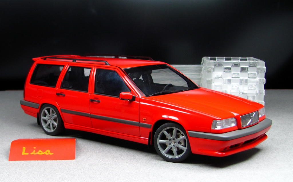 1996 Volvo 850 R Wagon Red Lisa Autoart 1 18 By