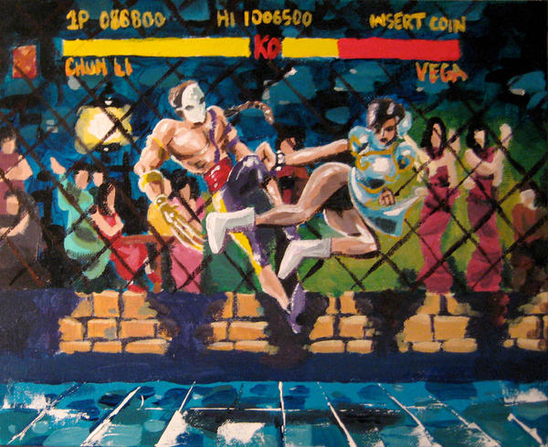 Street Fighter 2 Painting by steverinoz