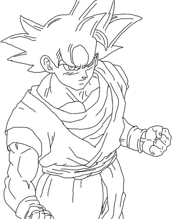 Ultra instinct goku drawing by dbzfan2827 on deviantart - Goku ultra instinct sketch ...