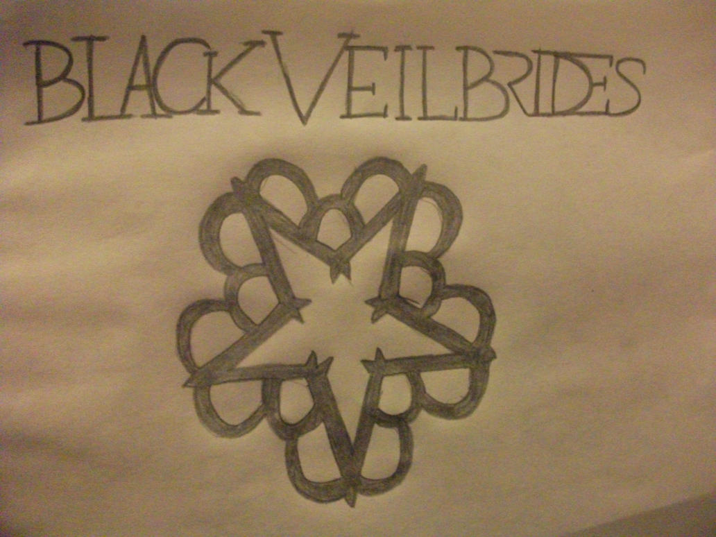How to draw the black veil brides logo