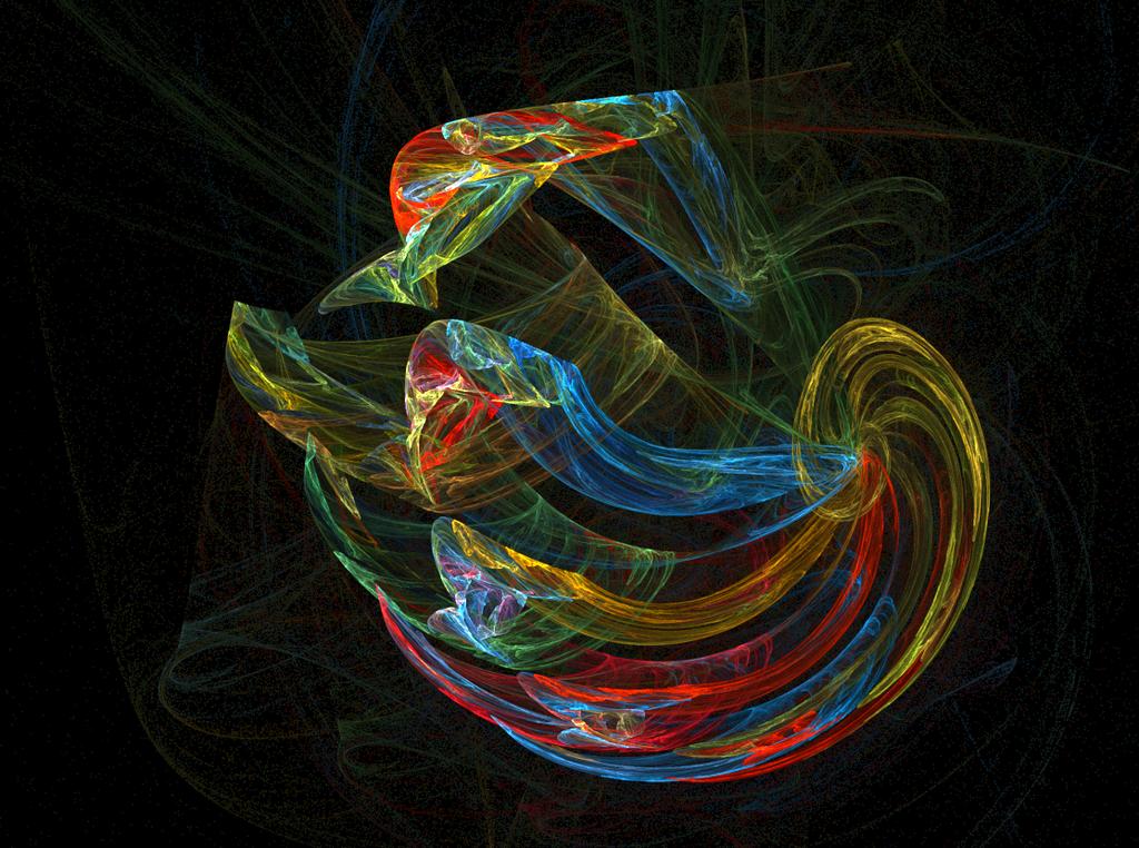 Twirling Rainbow by CyberXDragon