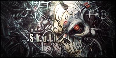 Skull cyborg by Karoleski