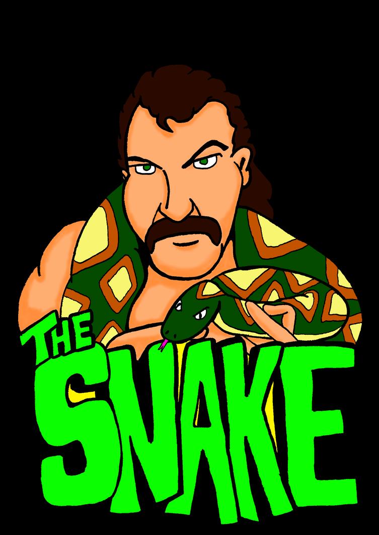 Jake The Snake Roberts by dan-morrow