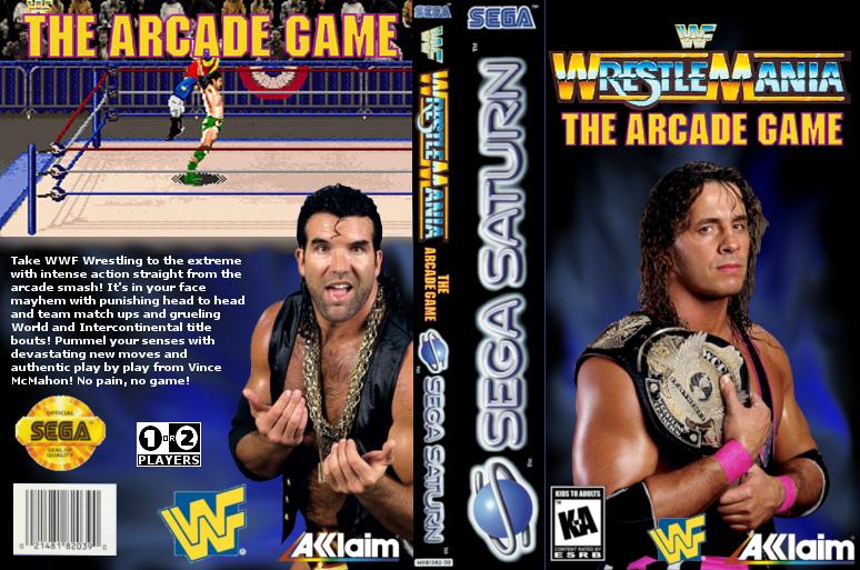 Custom cover art for Wrestlemania the Arcade Game by dan-morrow
