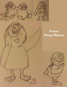 Porgions doodles