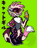 Saber punk cat Sprite: Vix