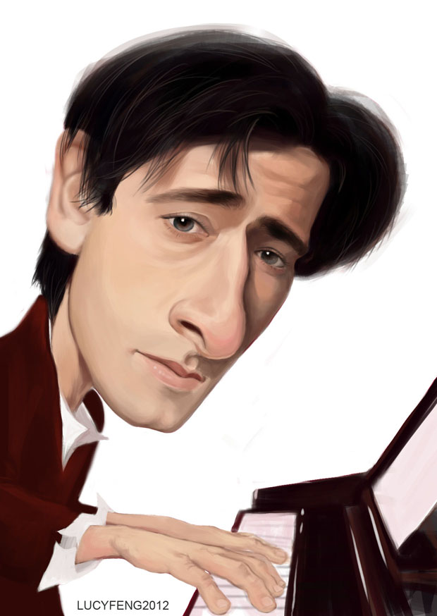 Adrien Brody Caricature by lucyelva