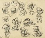 Nerd Girl Sketch