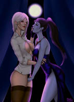 Ashe and Widowmaker by PufikN