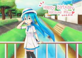 Happy birthday Miku2016 by TonHorm