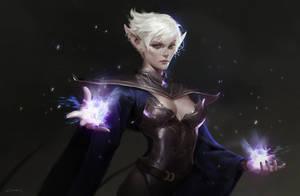 Dark Elf- Hecate by clarewyc