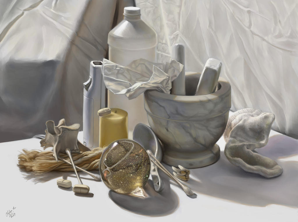 White Still Life by Cacodaemonia