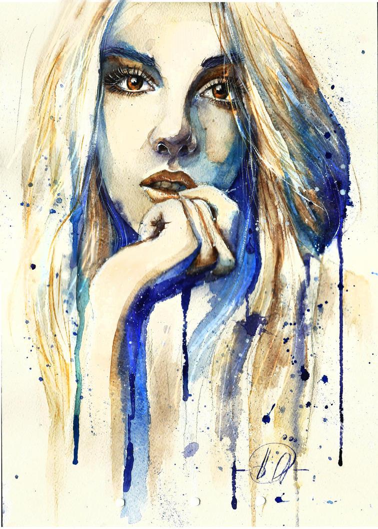 Self-portrait by Poplavskaya
