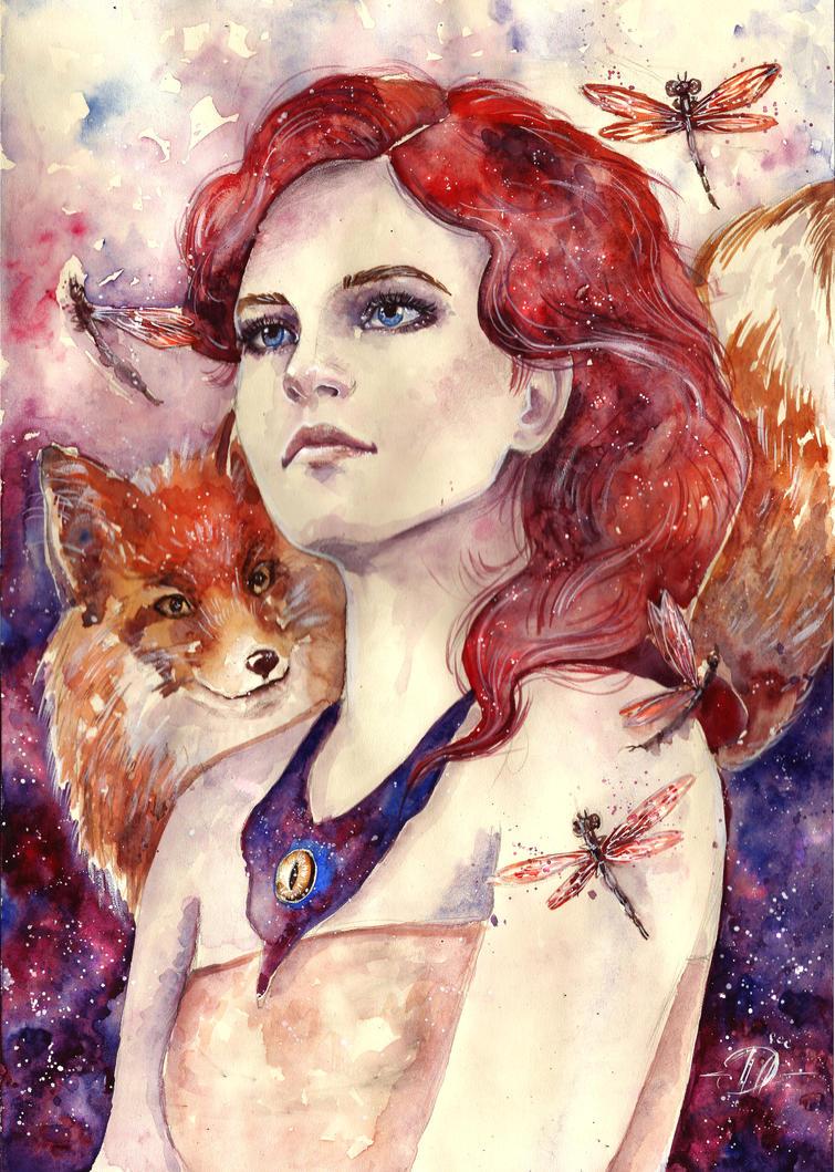 Diana Fox commission by Poplavskaya