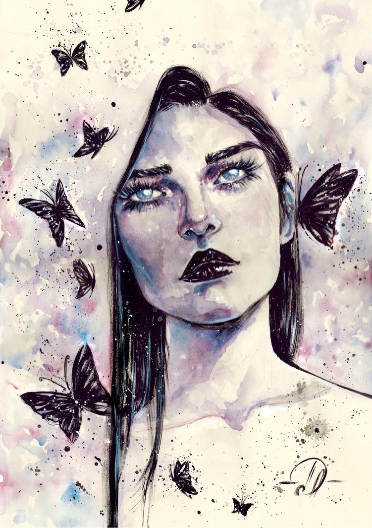 Butterfly's whisper by Poplavskaya