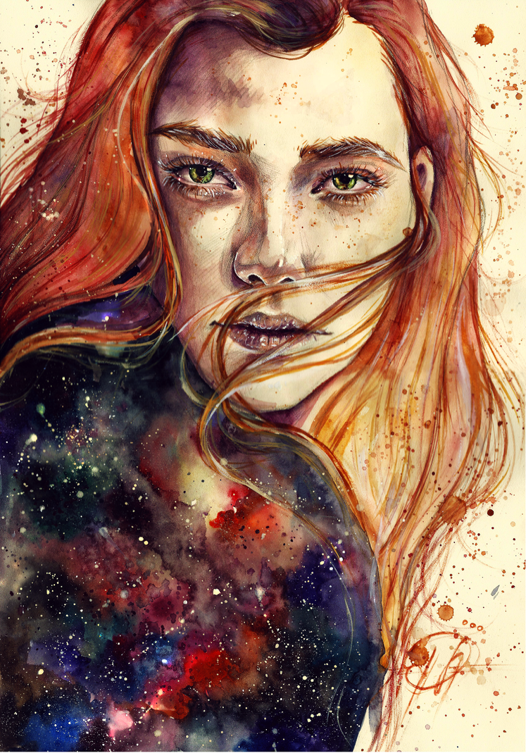 Watercolor Portraits by Lesya Poplavskaya #artpeople