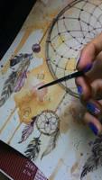dreamcatcher process by Poplavskaya