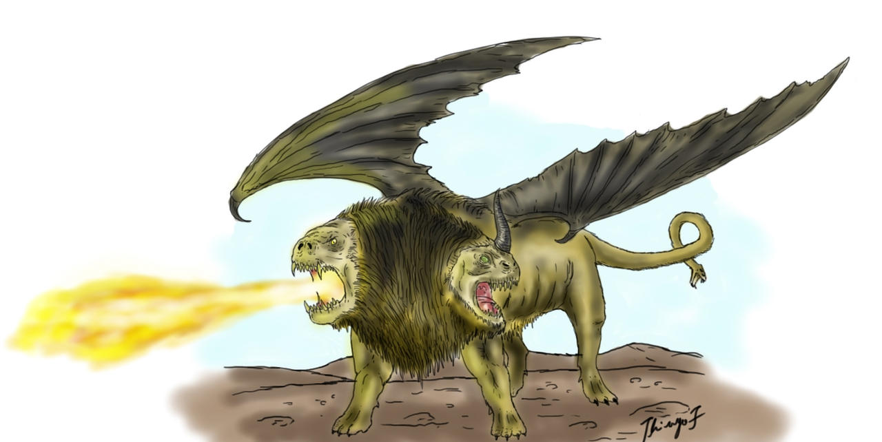 Chimera wrath of the titans by dragnathus on DeviantArt