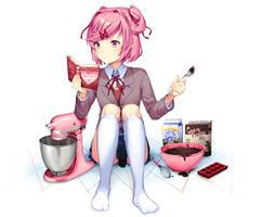 Valentine's Natsuki by Satchely