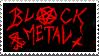 Black Metal Stamp by Killjoy1230