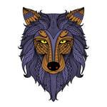 Wolf Kota (color in stamp)