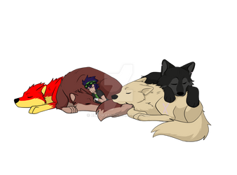 Sleeping with the pack by Lucasfan375
