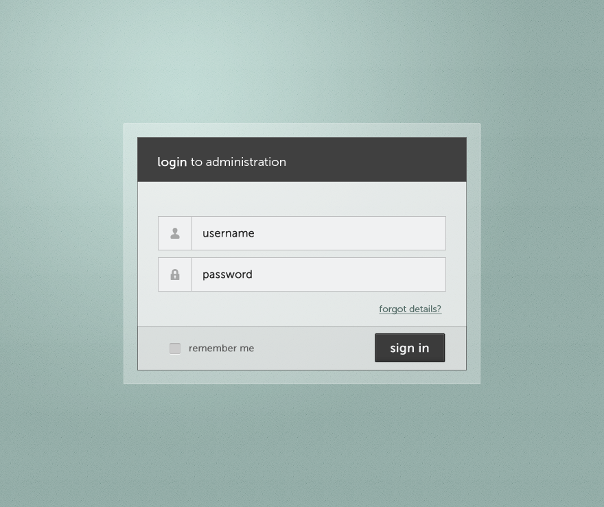 Admin panel login page minimalistic by skaars cz on for Deviantart login