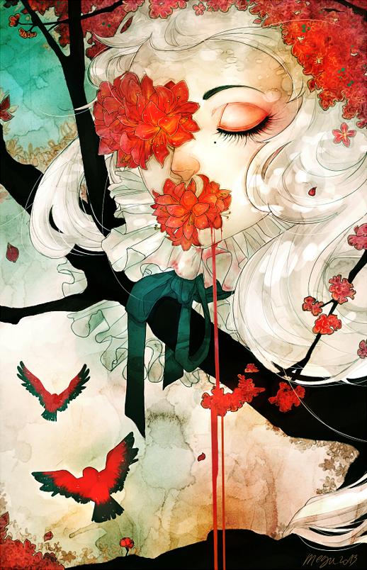 Liquid flowers by megounette