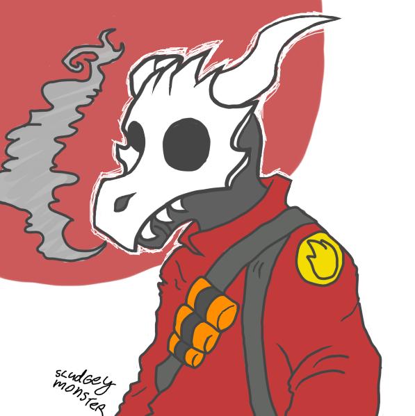 TF2: Pyro by SludgeyMonster