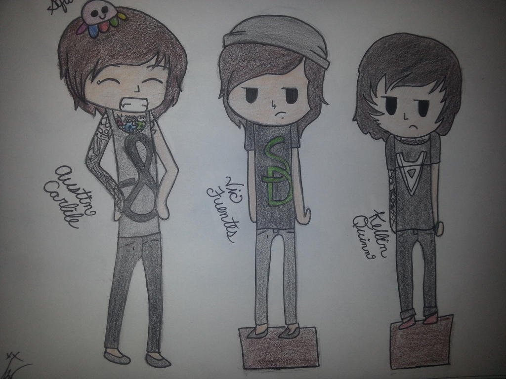 Austin carlile vic fuentes and kellin quinn by - Austin carlile wallpaper ...