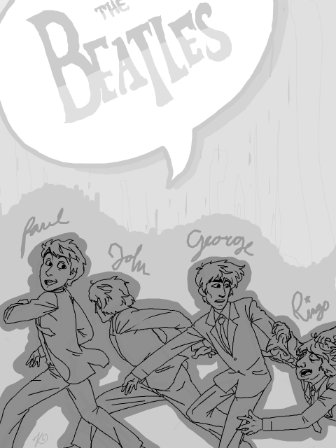 Tegaki - Beatles by Kuri-ishi
