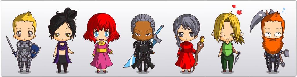 Dragon Age Chibi Companions by MerlindaDragon on DeviantArt