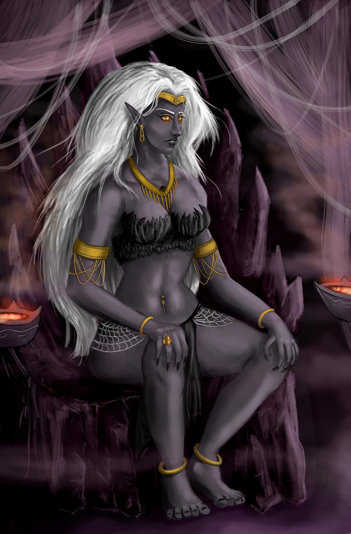 Drow Queen of the Dragonblacks by Scarecrowlover
