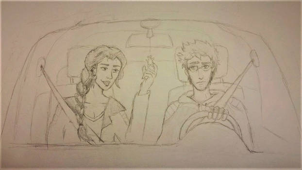 WIP - Critical Role Modern AU - Bears in Cars
