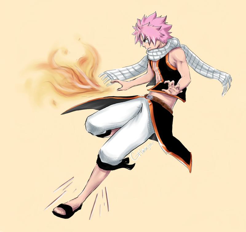 Natsu fire by Grimmjou