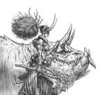Demon warrior sketch
