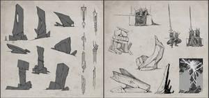 Fallen King Throne sketches