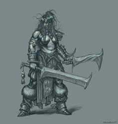 Orc Berserker by dariuszkieliszek