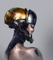 Robo Girl sketch.