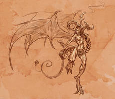 Demoness sketch