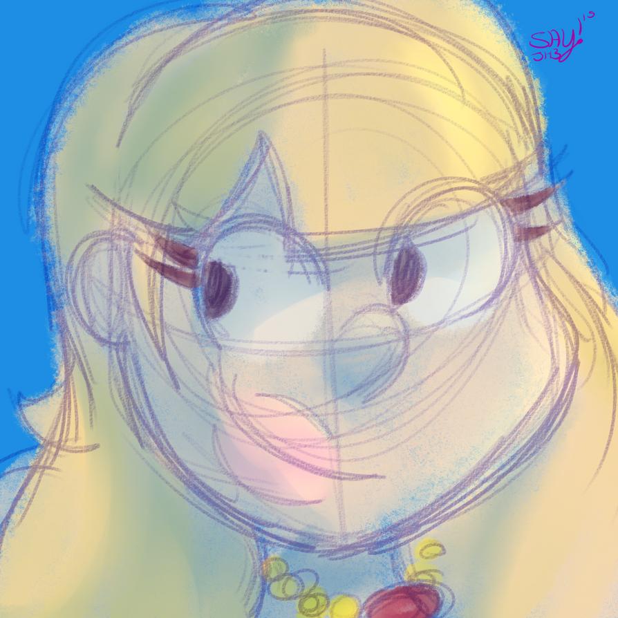 Painting Practice (2): Gravity Falls Girl by OrginStreakX