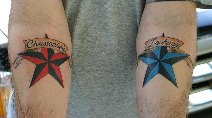 Tattoo gallery by ashley brady for Mens star tattoo