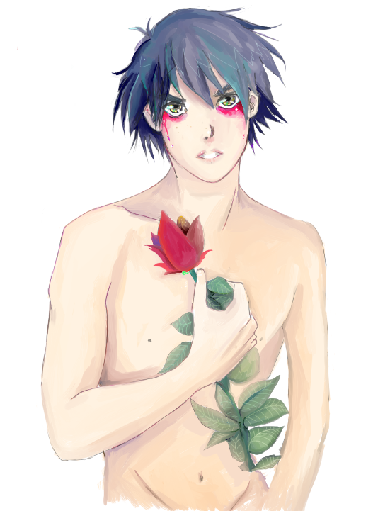 Boy And Flower by Spades-Blackmontt