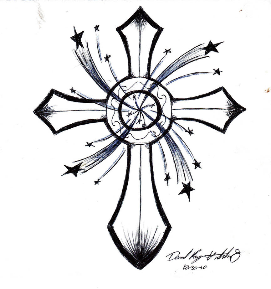 Cross and Stars by drayh1985