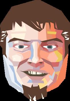 Self portrait in vectors