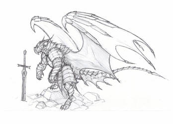 Dragon-knight by krigg