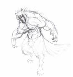Werewolf scetch wip by krigg