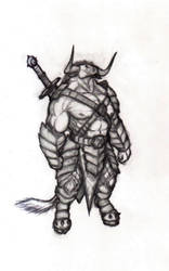 Minotaur warrior by krigg